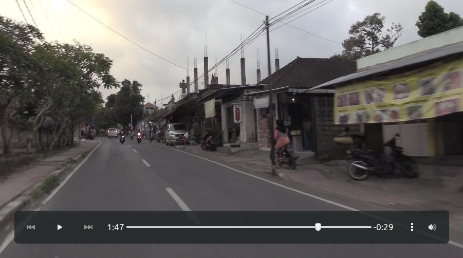 Streets in the outskirts of Ubud.