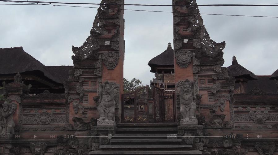 One of innumerable entrances to Hindu temples in Ubud.