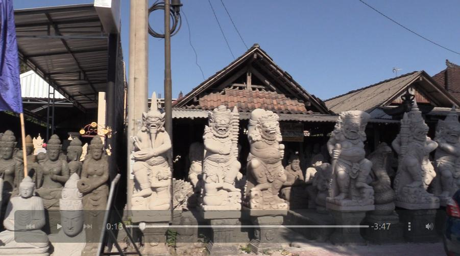 An ocean of sculptures, paintings, etc. lining the main road between Denpasar and Ubud. A truly remarkable sight.