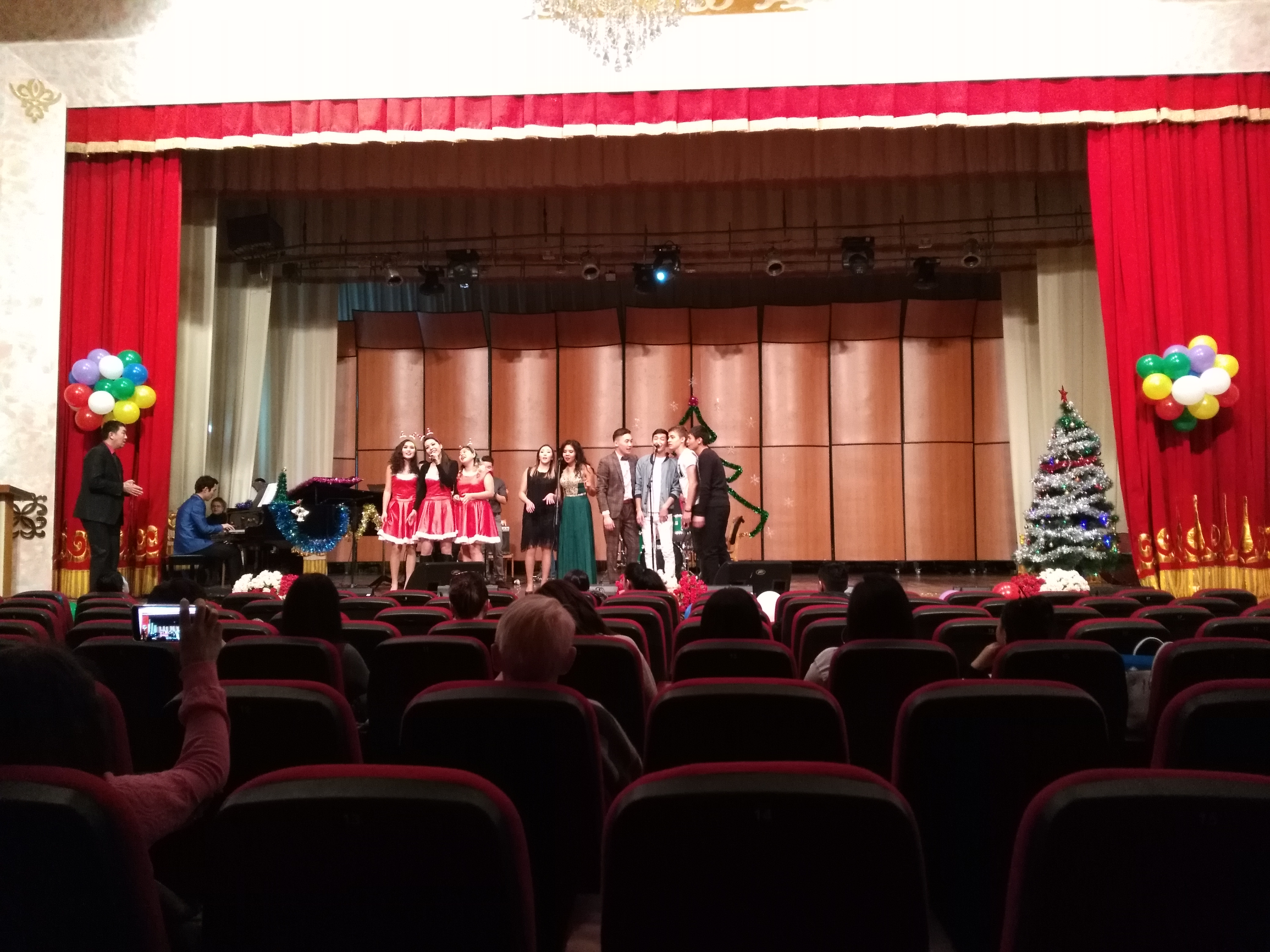 The grand commencement of the Christmas concert at the Kyrgyz National Conservatory.