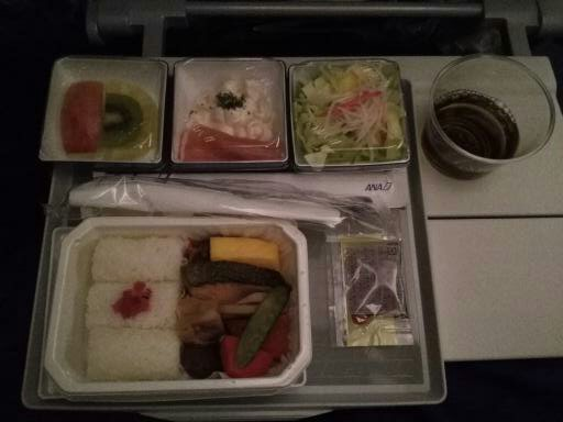 Airplane food on ANA airlines en route to Jakarta.