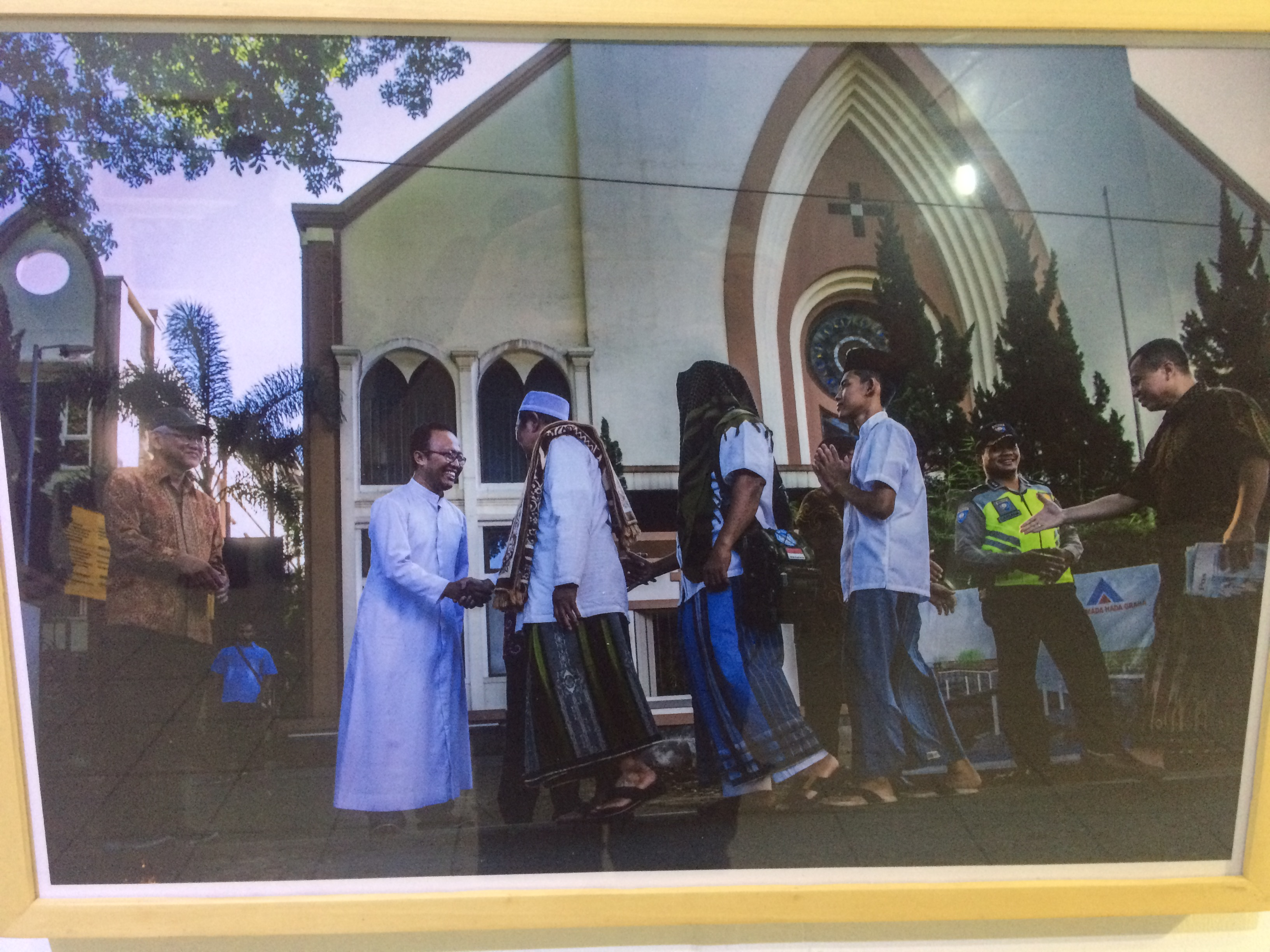 One of several photos in the exhibit portraying religious diversity in Indonesia.